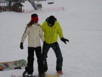 Snowboard en cours particulier dans les Hautes Alpes