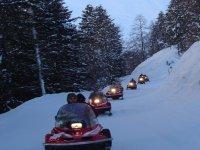 Soiree motoneige dans les Hautes Pyrenees