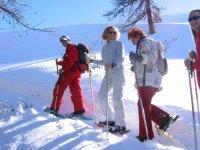 Randonnee dans la neige avec un guide de l ESF
