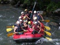 Rafting en famille