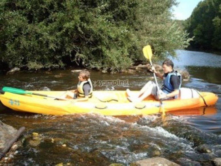 Sortie en canoe dans le Calvados à Clécy