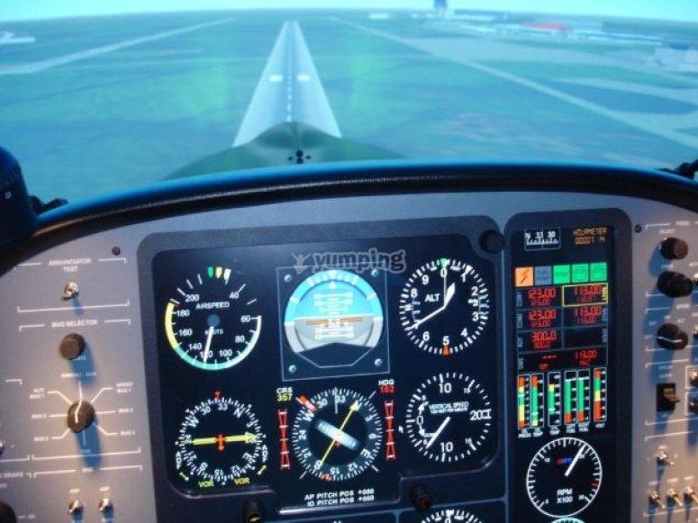 Les commandes du simulateur de vol