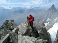 Arrivee au sommet de la montagne