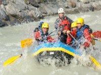Rafting a Chamonix