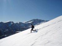 courir en raquettes a neige