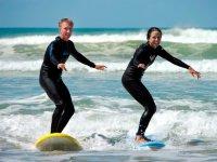 Premiers cours de surf
