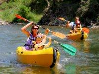 Canoe en famille sur la Dourbie