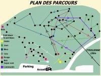 Plan des parcours