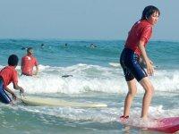 Surfer pour la premiere fois