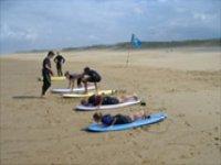 Debuter en surf dans les Landes