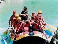 Rafting avec des amis.