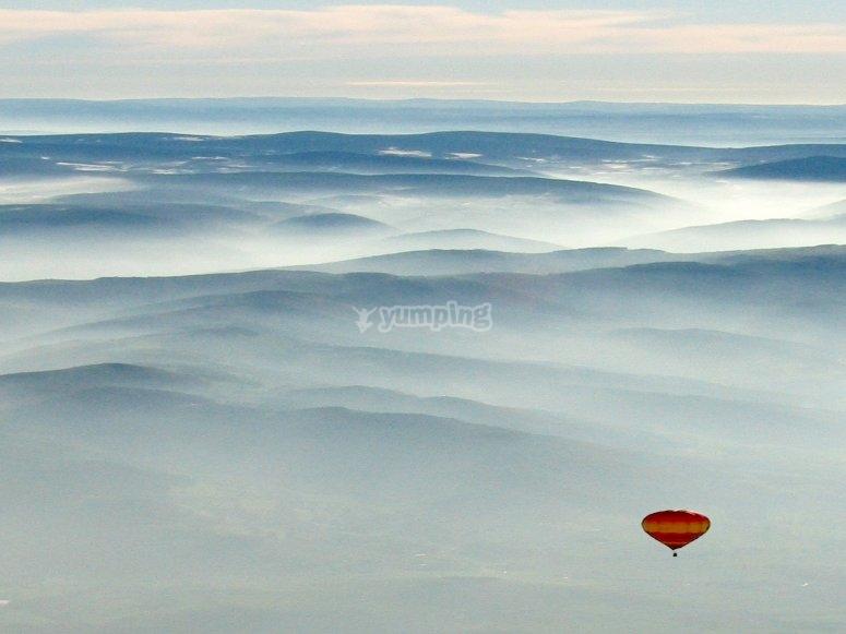 Le ciel en Montgolfiere