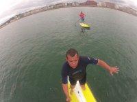 paddle surf a Hendaye Plage dans le 64