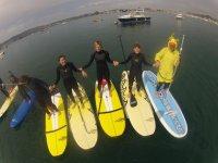paddle surf en groupe sur plan d eau calme
