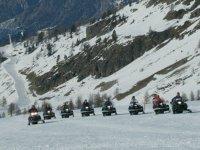 Scooter des neiges dans les Hautes Alpes