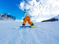 Snowboard dans le Haut Jura