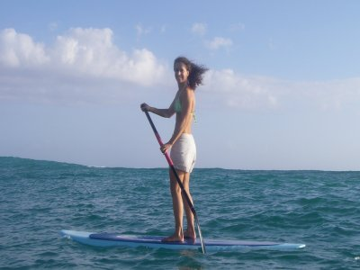 Surfing St Gilles Paddle Surf