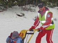 Sortie au ski pour personne handicapee