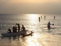 Paddle surf dans les Landes