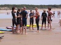 surf par groupe de niveau en Vendee