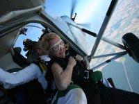 Prets a sauter en parachute