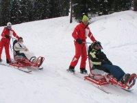 balade en fauteuil ski