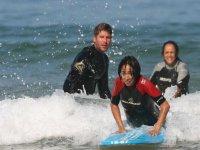 Cours de surf dans les Landes