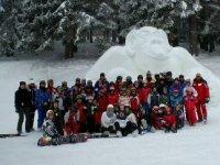 Stage de ski avec l association