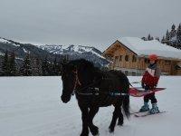 Initiation ski joering a Les Gets
