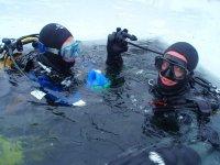 Plongee lac gele