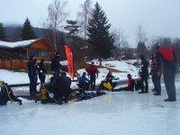 Plongee sous glace avec des professionnels