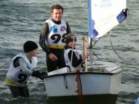 Regate en optimist dans le Morbihan