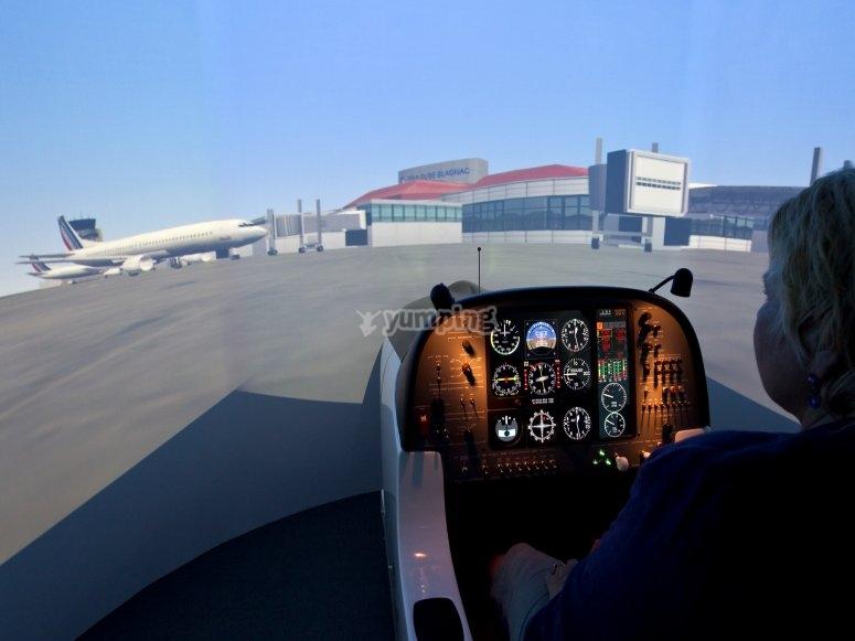 Pilotage sur simulateur