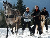 Sortie ski joering dans les Aravis