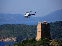 Vol en helico en Corse