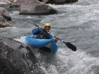 Kayak sur les flots