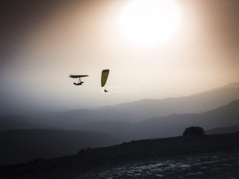Deltaplane et parapente