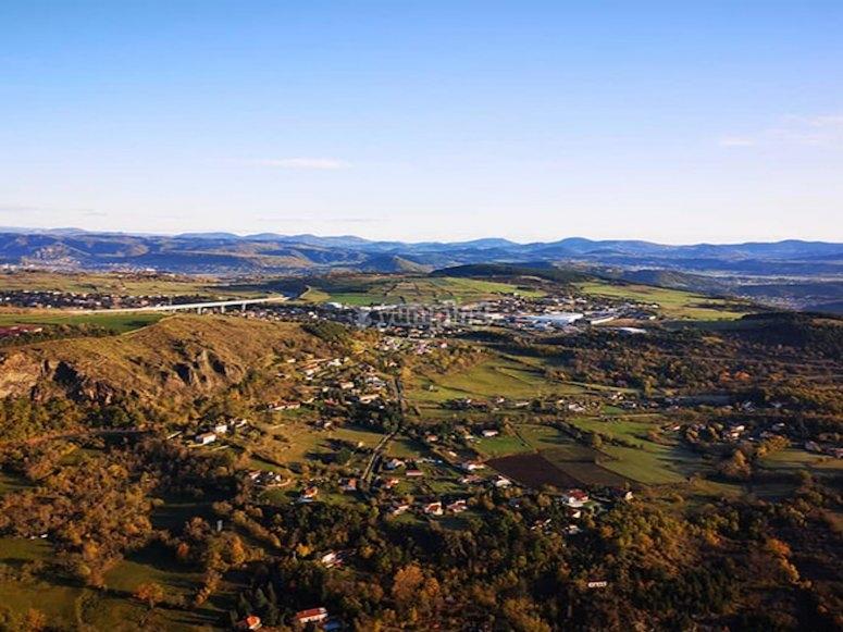La beauté de Beaujolais vue d'au dessus