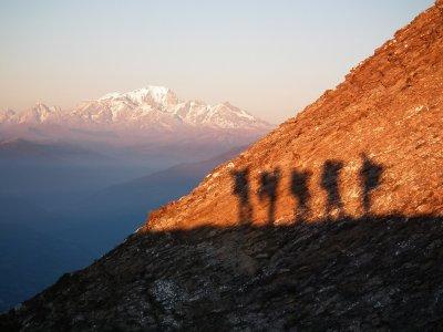 Demi-journée en randonnée raquettes au Mont-Blanc