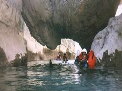 Aboard Canyoning