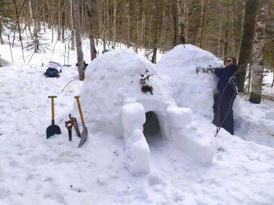 Randonnée raquettes & construction d'igloo/Avoriaz