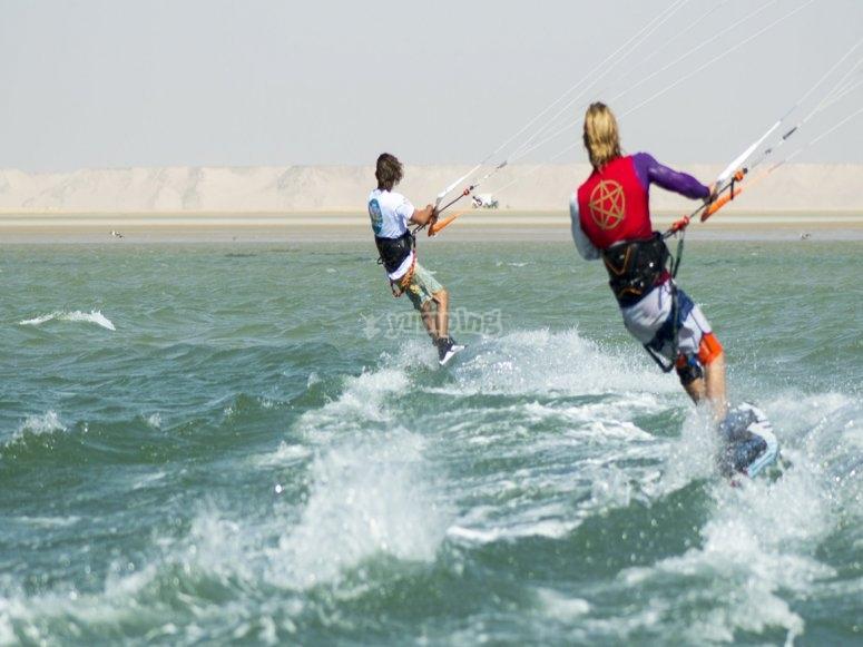 Kitesurf en groupe