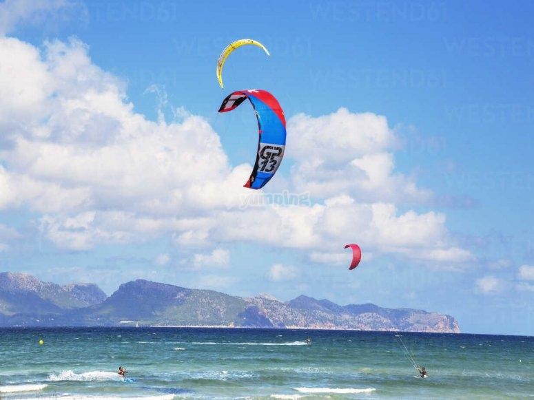 Kitesurf en mer