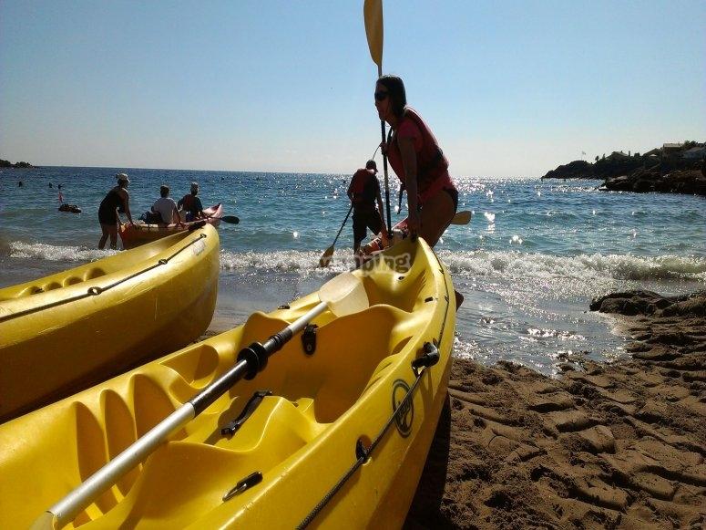 Petite croisière à bord de kayaks
