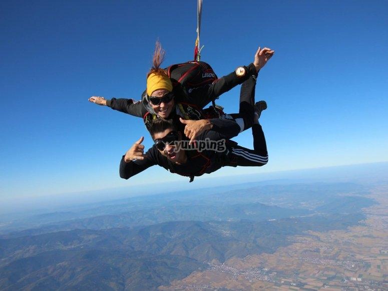 Saut parachute en tandem