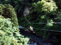 Tyrolienne a travers les Pyrenees avec le Bureau des Guides Cauterets Via Ferrata