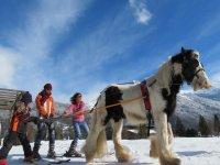 Initiation ski joering a Morillon