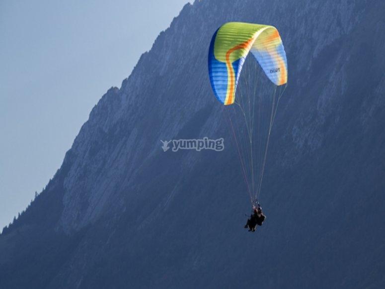 Vue splendide sur les montagnes de la Haute-Savoie