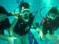 plongee en piscine avec le club de la Bulle