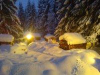 notre terrain l'hiver